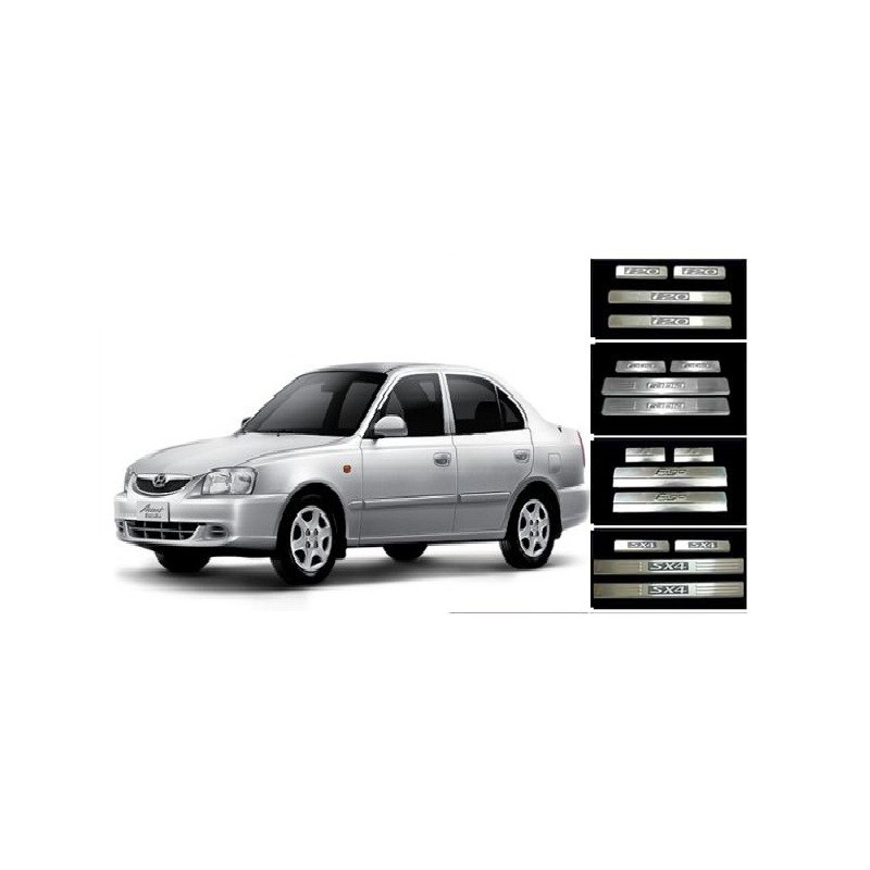 Buy Hyundai Accent Stainless Steel Door Scuff Sill Plates at low prices-RideoFrenzy