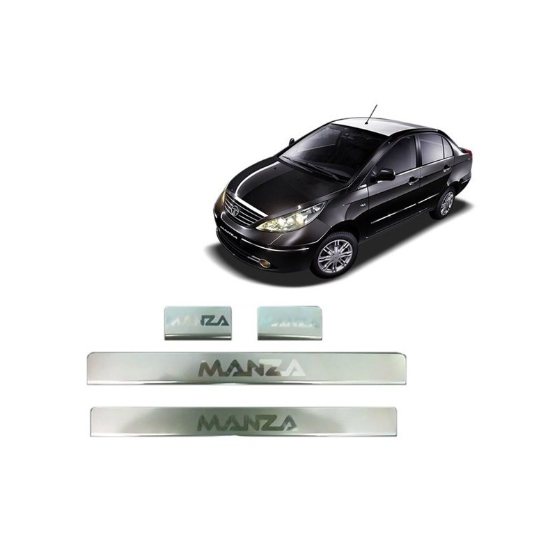Buy Tata Manza Door Stainless Steel Sill/Scuff Plates online at low prices-RideoFrenzy