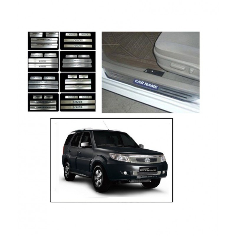 Buy Tata Safari Storme Door Stainless Steel Sill Plates online at low prices-RideoFrenzy