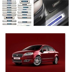 Buy Fiat Linea Stainless Steel Sill Plate with Blue LED online | Rideofrenzy
