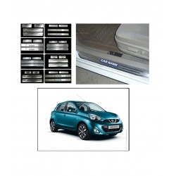 Buy Nissan Micra Stainless Steel Sill Plates online at low prices | Rideofrenzy