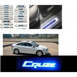Buy Chevrolet Cruze Stainless Steel Sill Plate with Blue LED online| Rideofrenzy