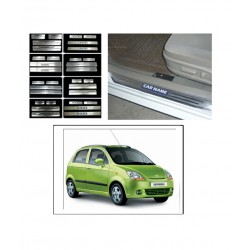 Buy Chevrolet Spark Stainless Steel Sill Plates online at low prices | Rideofrenzy