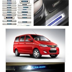 Buy Chevrolet Sail Stainless Steel Illuminated Scuff Plates online | Rideofrenzy