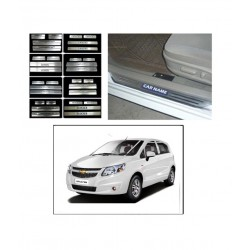 Buy Chevrolet Sail Uva Stainless Steel Sill Plate online at low prices | Rideofrenzy